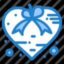 heart, love, present, ribbon, valentine icon