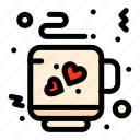 coffee, love, tea icon