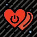 heart, love, off, power, switch
