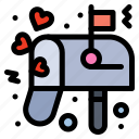 box, letter, love, mail icon