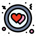 circle, heart, love icon