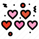 hearts, love, valentines icon
