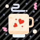 coffee, love, tea icon
