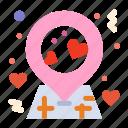 location, love, pin icon