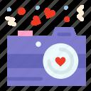 camera, love, photography, valentine icon