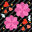 flower, gift, love icon