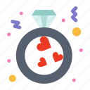 heart, love, proposal, ring icon