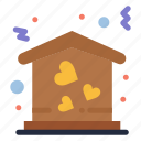 home, house, love, move icon