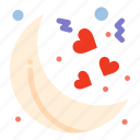 moon, night, valentines icon