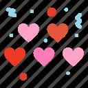 hearts, love, valentines icon