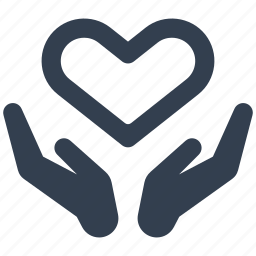 couple, hand, heart, holding, love, safe, secure, valentine icon