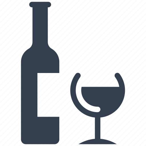 alcohol, bottle, couple, drink, glass, shampane, valentine, wine icon