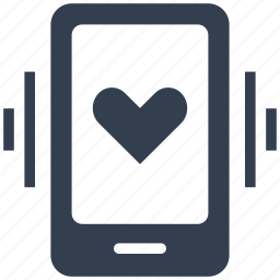 couple, heart, love, phone, ringing, smartphone, valentine icon