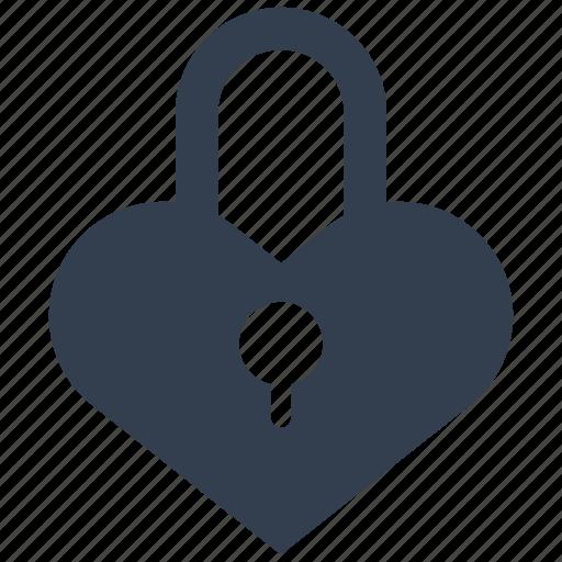heart, lock, love, padlock, valentine icon