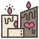 atmosphere, candle, light, love, valentine icon