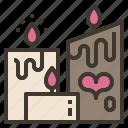atmosphere, candle, light, love, valentine