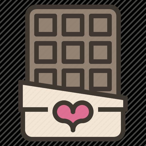 bar, chocolate, sweet, treat, valentine icon