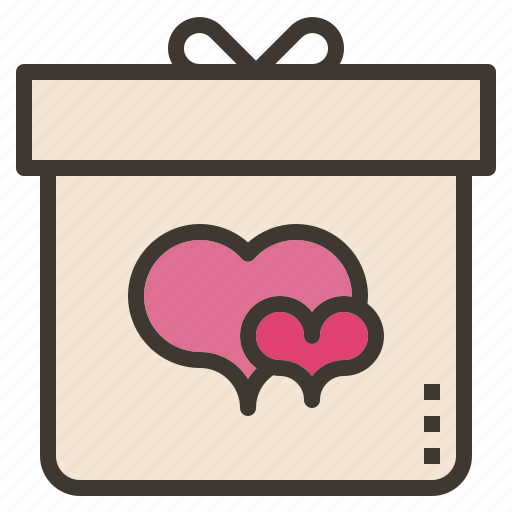 box, gift, present, valentine icon