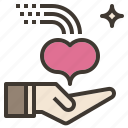 heart, charity, welcome, love, give icon