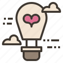 air, balloon, hot, love, valentine icon