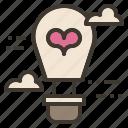 air, balloon, hot, love, valentine