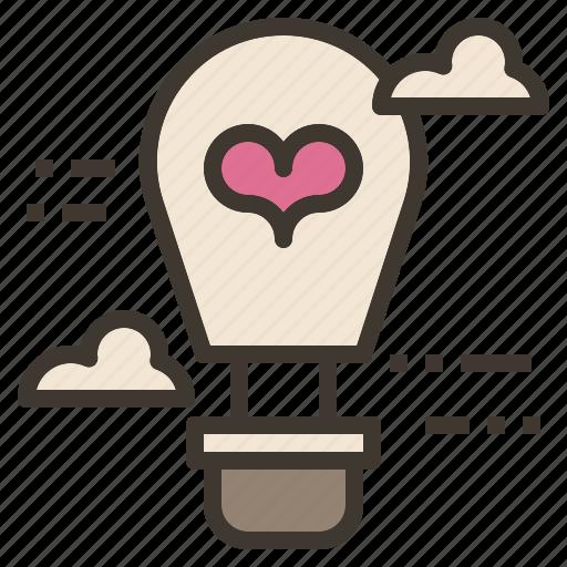 air, balloon, hot, love, valentine icon