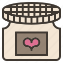 homemade, jam, love, valentine icon