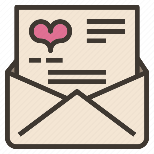letter, love, message, valentines icon