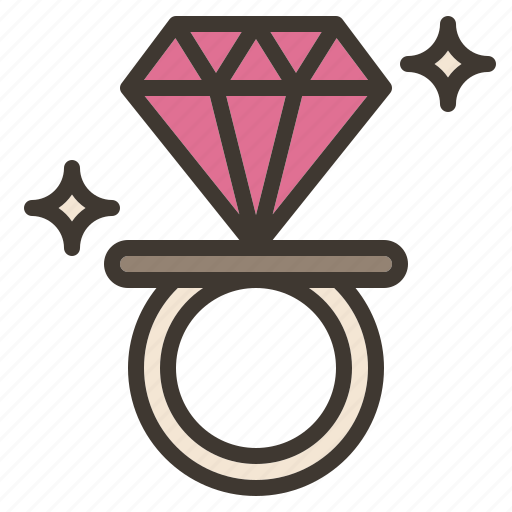 candy, diamond, ring, sweet, treat, valentine icon