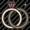 engagement, pair, ring, wedding