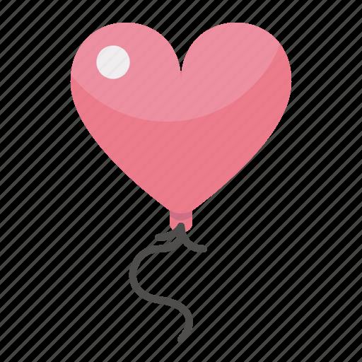 balloon, day, heart, love, valentines icon