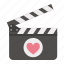 day, heart, love, movies, valentines icon