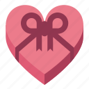 chocolates, day, heart, love, present, valentines icon