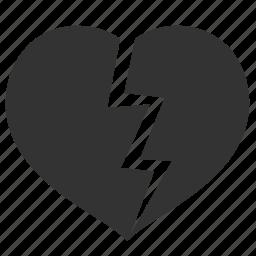 broken, celebration, divorse, heart, holiday, love, valentine, valentine's day icon