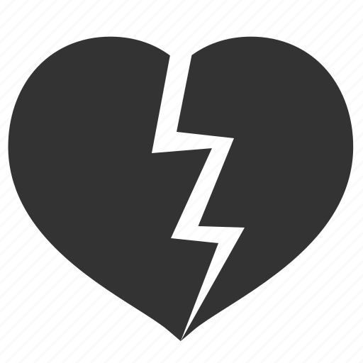 broken, celebration, divorse, heart, holiday, love, valentine, valentine's day icon
