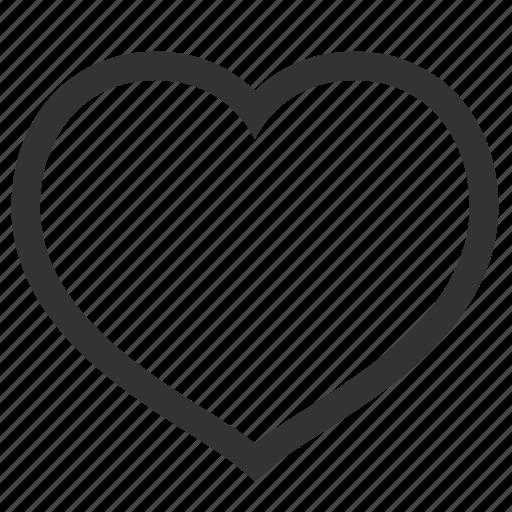 celebration, empty, favorite, heart, in love, like, love, romantic, valentine, valentine's day icon