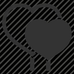 bubbles, celebration, couple, date, heart, lillipops, love, romantic, valentine, valentine's day icon