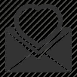 celebration, email, envelope, heart, letter, love, mail, message, romantic, valentine, valentine's day icon