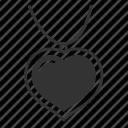 celebration, gift, heart, love, necklace, present, romantic, valentine, valentine's day icon
