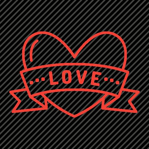 Heart Love Ribbon Valentine Valentine S Day Icon