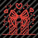 gift, love, present, valentine icon