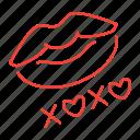 hugs, kiss, kisses, xoxo icon