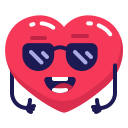 cool, heart, sunglasses icon