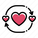 flat, heart, love, romance, valentine