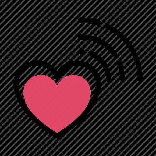 flat, heart, love, romance, valentine icon