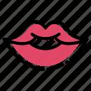 flat, kiss, lips, romance, romantic, valentine