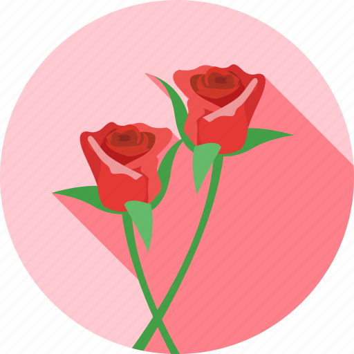heart, love, romantic, rose, valentine, valentines icon