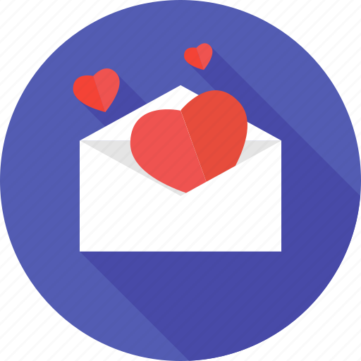 email, heart, letter, love, mail, message, valentines icon