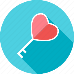 heart, key, lock, love, password, valentine, valentines icon