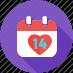 calendar, date, day, event, love, schedule, valentines icon